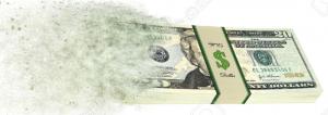 banconote polverizzate
